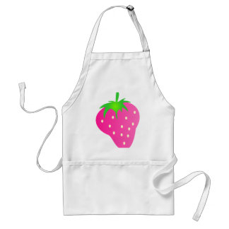 Pink Strawberry Bright and Cheerful Adult Apron
