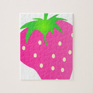 Pink Strawberry Bright and Cheerful Puzzle