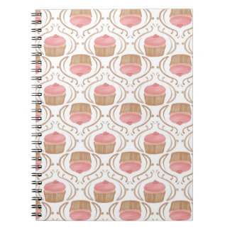Pink Strawberry Champagne Cupcake Notebook