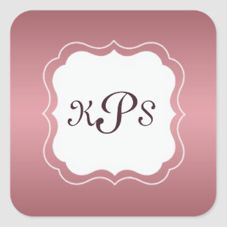 Pink Strawberry Ice Monogram Bracket Frame Sticker