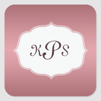Pink Strawberry Ice Monogram Sticker