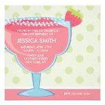Pink Strawberry Margarita Party Invitation