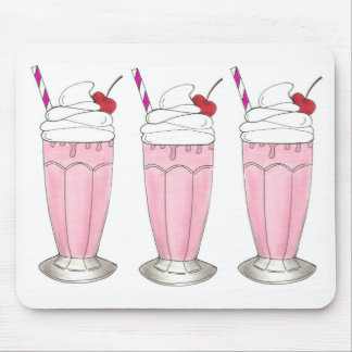 Pink Strawberry Shake Ice Cream Milkshake Foodie Mouse Pad