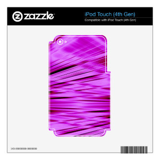 Pink streaked lines pattern iPod touch 4G decals
