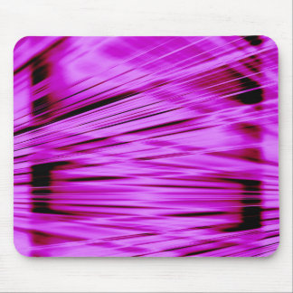 Pink streaked lines pattern mouse pad