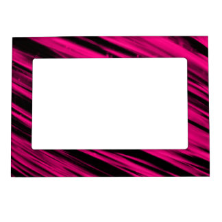 Pink Streaks Photo Frame Magnets