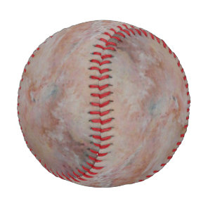 Pink striated marble stone finish baseball