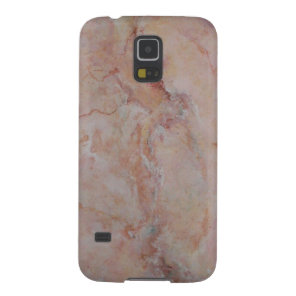 Pink striated marble stone finish galaxy s5 case