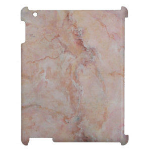 Pink striated marble stone finish iPad covers