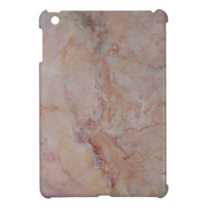 Pink striated marble stone finish iPad mini cases