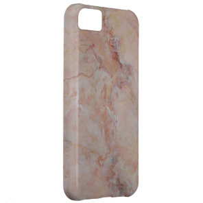 Pink striated marble stone finish iPhone 5C cover