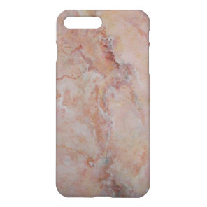 Pink striated marble stone finish iPhone 7 plus case