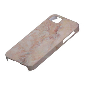 Pink striated marble stone finish iPhone SE/5/5s case