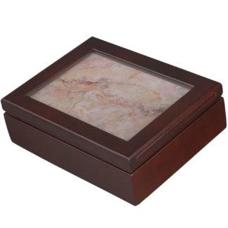 Pink striated marble stone finish keepsake box