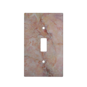 Pink striated marble stone finish light switch cover