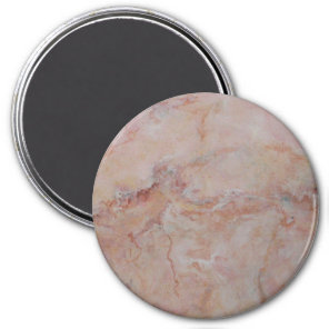 Pink striated marble stone finish magnet