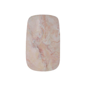 Pink striated marble stone finish minx nail art