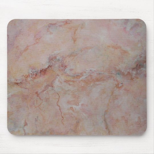 Pink striated marble stone finish mouse pad