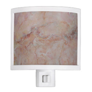 Pink striated marble stone finish night light