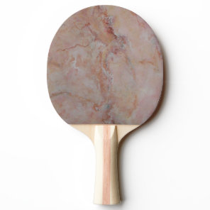 Pink striated marble stone finish Ping-Pong paddle