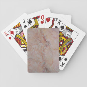 Pink striated marble stone finish playing cards