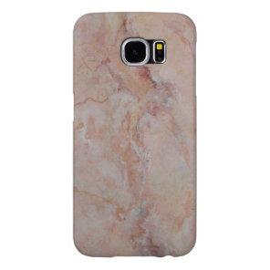 Pink striated marble stone finish samsung galaxy s6 case