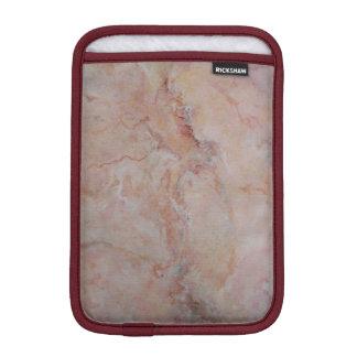 Pink striated marble stone finish sleeve for iPad mini