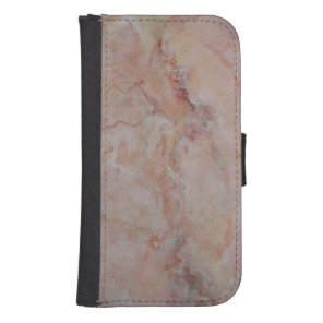 Pink striated marble stone finish wallet phone case for samsung galaxy s4