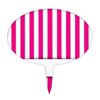 Pink stripe background cake topper