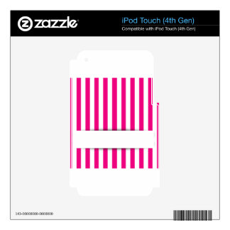 Pink stripe background decal for iPod touch 4G