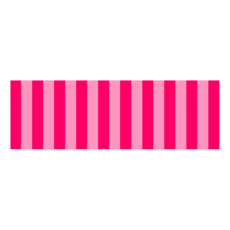 Pink Stripe Background Double-Sided Mini Business Cards (Pack Of 20)