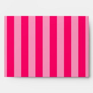 Pink Stripe Background Envelopes