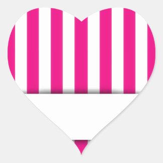 Pink stripe background heart sticker