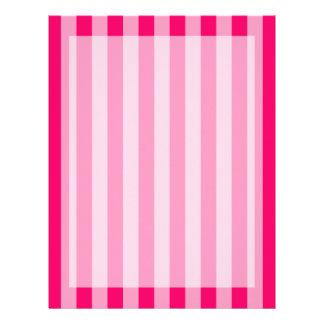 Pink Stripe Background Letterhead