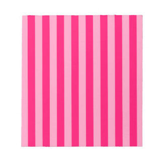 Pink Stripe Background Notepad