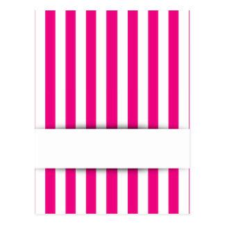 Pink stripe background postcard