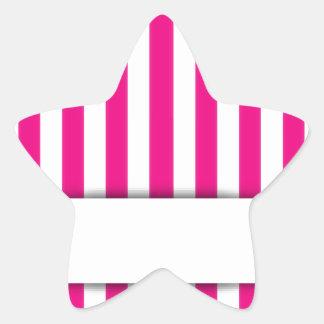 Pink stripe background star sticker
