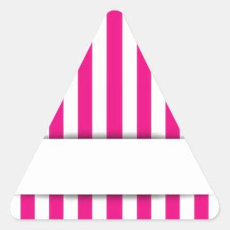 Pink stripe background triangle sticker