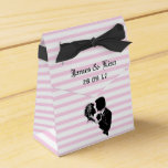 PINK STRIPE BRIDE & GROOM FAVOUR BOX