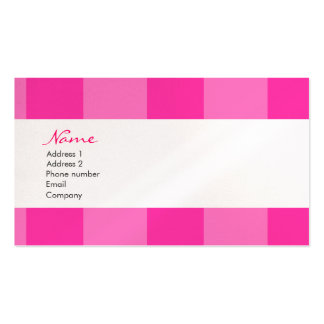 Pink Stripe Business Card