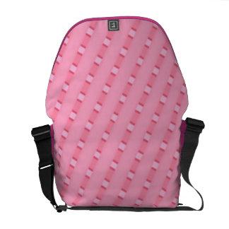 Pink stripe courier bag