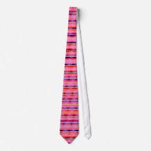 Pink Stripe Flower Tie