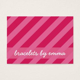 """Pink Stripe"" Friendship Bracelet Card"