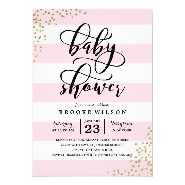 Modern Baby Shower Invitations Announcements Zazzle