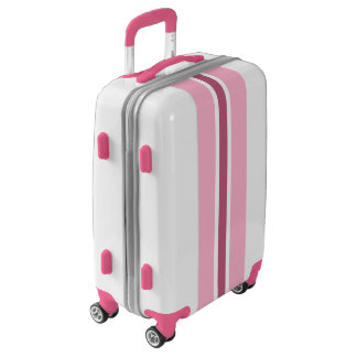 Pink Stripe Luggage Suitcase