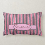 Pink Stripe Personalized Throw Pillows