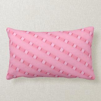 Pink stripe pillow