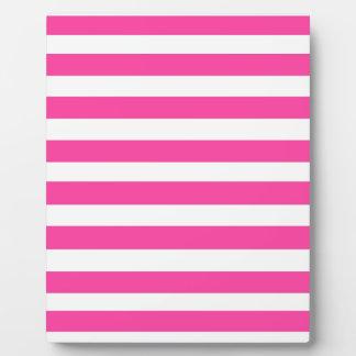 Pink Stripe Plaques