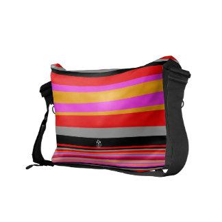Pink Stripe Rickshaw Messenger Bag