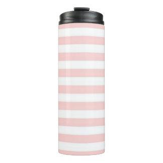 Pink Stripe Thermal Tumbler